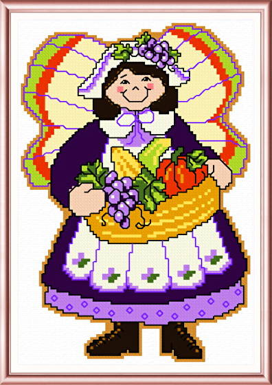 cross stitch pattern November Angel