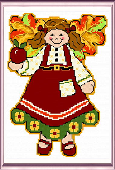 cross stitch pattern September Angel