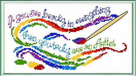 cross stitch pattern Artist
