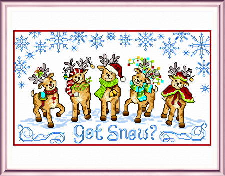 cross stitch pattern Got Snow
