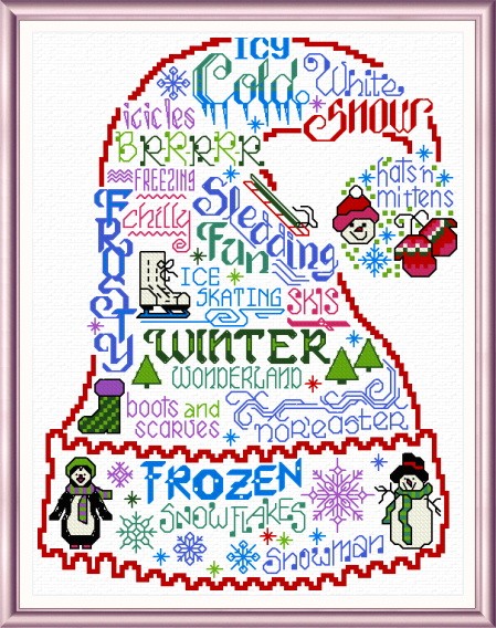 cross stitch pattern Let's Be Frozen