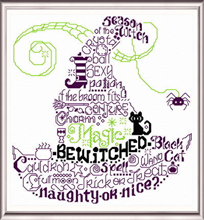 cross stitch pattern Let's be Wicked