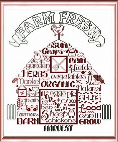 cross stitch pattern Let's Farm
