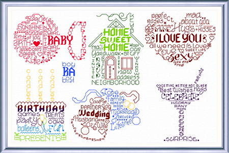 cross stitch pattern Let's Make Greetings