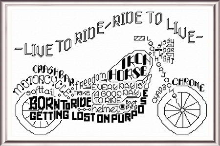 cross stitch pattern Let's Ride