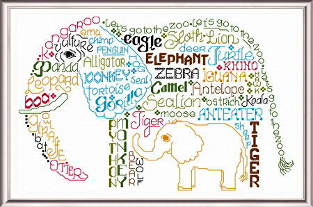 cross stitch pattern Let's go to the Zoo