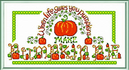 cross stitch pattern Pumpkin Pie