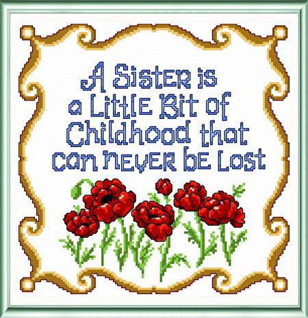 cross stitch pattern Sister