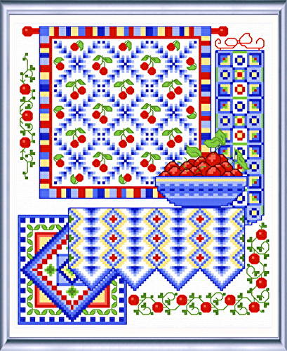 cross stitch pattern Sweet Cherries