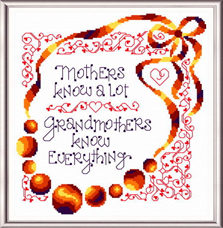 cross stitch pattern I Know Grandmas