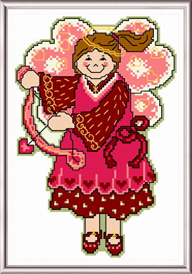 cross stitch pattern February Angel