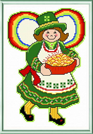 cross stitch pattern March Angel