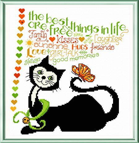 cross stitch pattern Best Things in Life