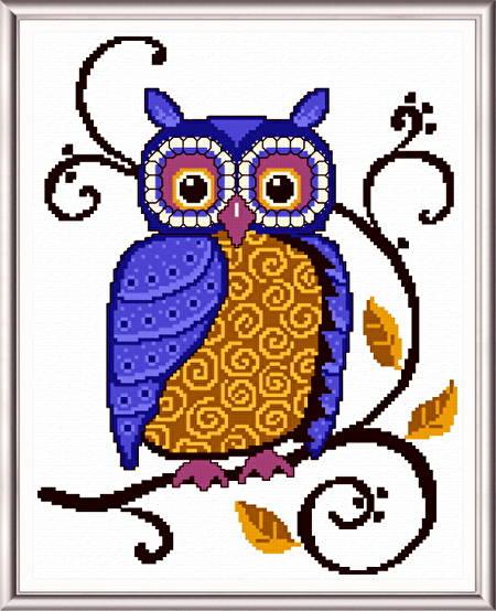 cross stitch pattern Classic Owl