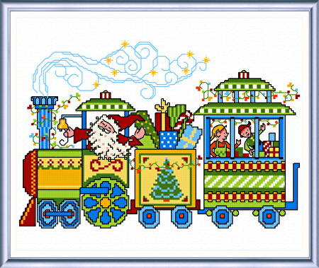cross stitch pattern Holiday Delivery