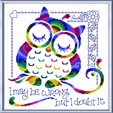 cross stitch pattern I Know I'm Right