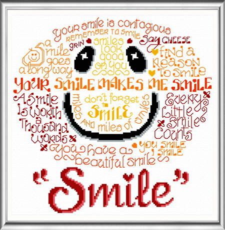 cross stitch pattern Let's Smile