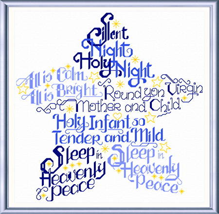 cross stitch pattern Let's Have a Silent Night