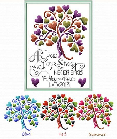 cross stitch pattern Love Story Wedding