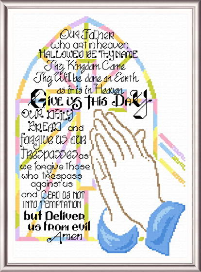 cross stitch pattern Praying Hands