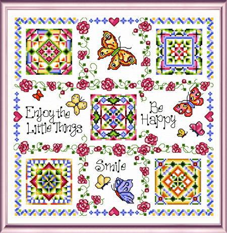cross stitch pattern Tic Tac Summer