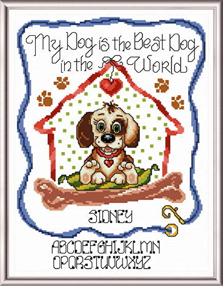 cross stitch pattern Best Dog in the World