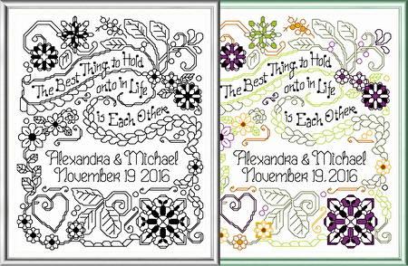 cross stitch pattern Best Thing Wedding
