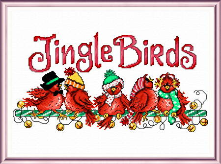 cross stitch pattern Jingle Birds