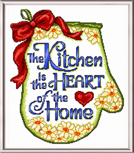cross stitch pattern Kitchen is the Heart