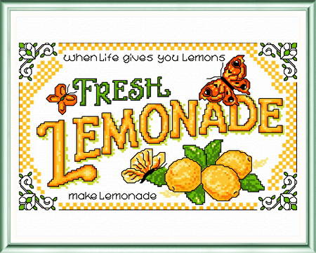 cross stitch pattern Lemonade
