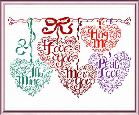 cross stitch pattern Let's Be Sweethearts