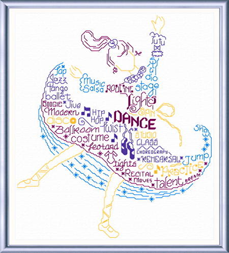 cross stitch pattern Let's Dance
