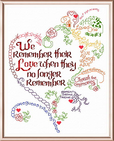 cross stitch pattern Let's Remember... Alzheimer's