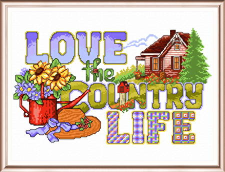 cross stitch pattern Love the Country Life