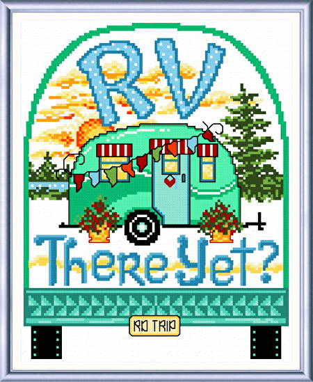 cross stitch pattern RV There Yet