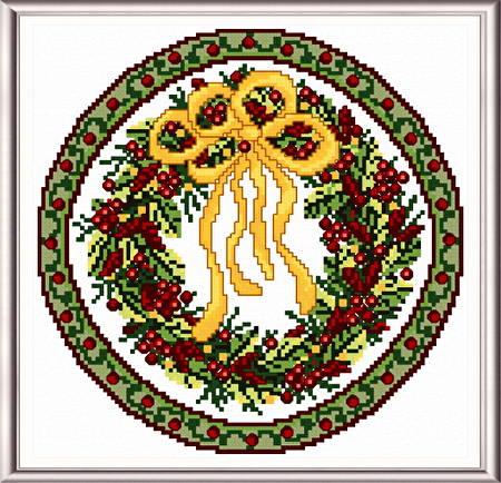 cross stitch pattern Seasonal Circle/ Dec Memory