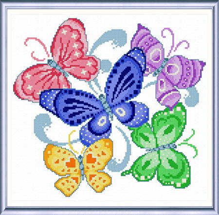 cross stitch pattern Spring Butterflies