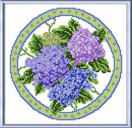 cross stitch pattern Seasonal Circle/ August Memory