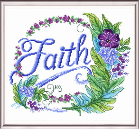 cross stitch pattern Feathered Faith