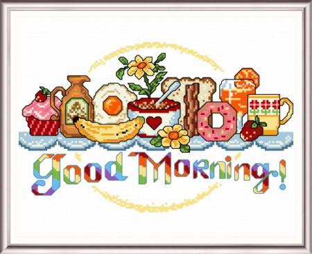 cross stitch pattern Good Morning Breakfast