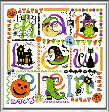 cross stitch pattern Tic Tac Halloween