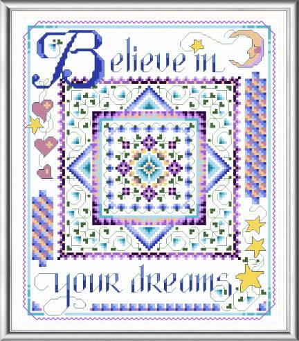 cross stitch pattern Believe in Your Dreams