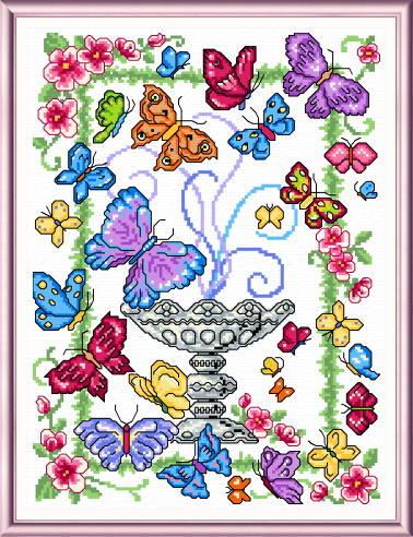 cross stitch pattern Butterfly Garden