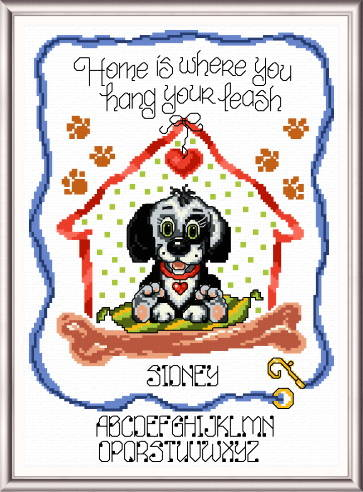 cross stitch pattern Hang Your Leash