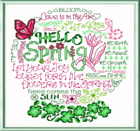 cross stitch pattern Let's Bloom
