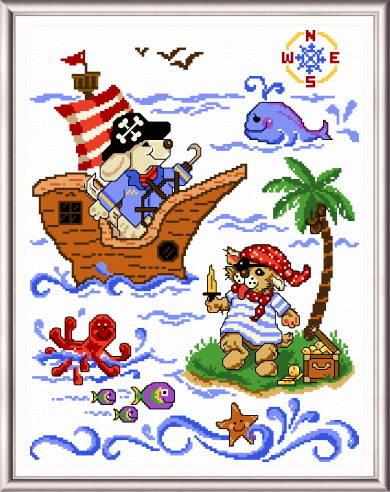 cross stitch pattern Little Pirates