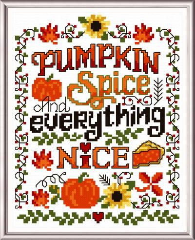 cross stitch pattern Pumpkin Spice