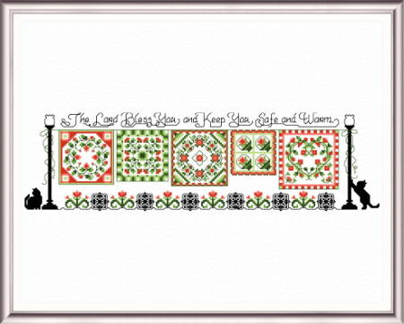 cross stitch pattern Safe and Warm