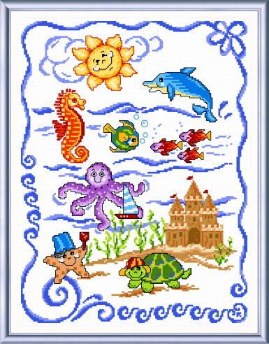 cross stitch pattern Sea Friends