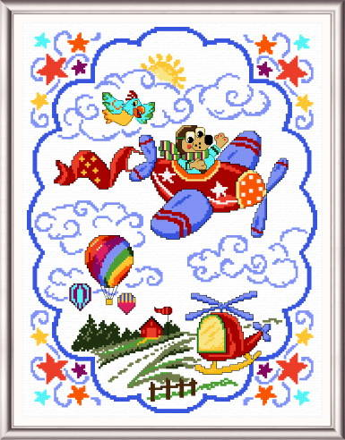 cross stitch pattern Things That Fly